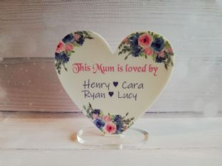 Personalised Acrylic Heart Mother/Grandmother Gift